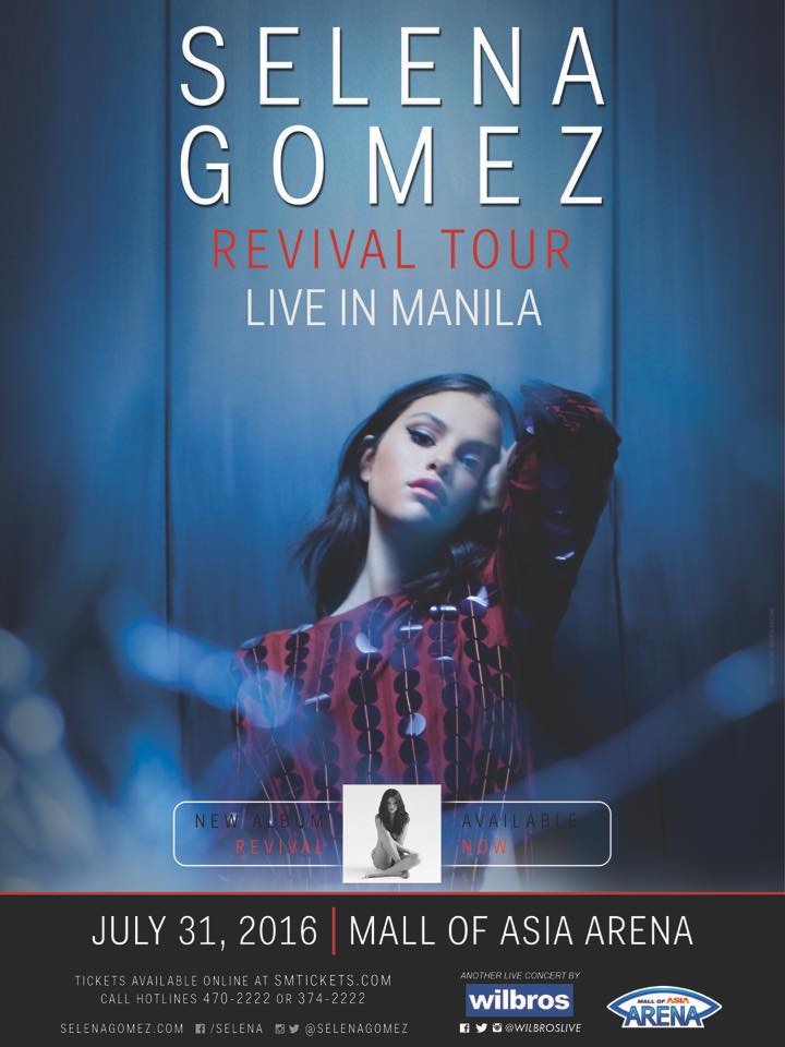 Selena gomez live in manila 2016 philippine concerts selena gomez live in manila 2016 ticket prices vip m4hsunfo