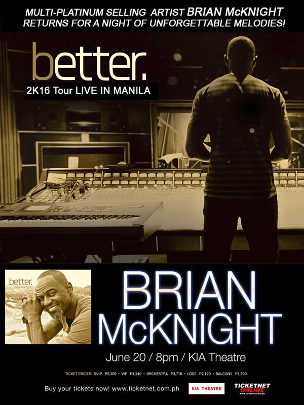 Brian McKnight Live in Manila 2016