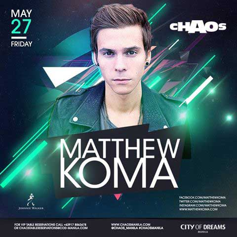 Matthew Koma Live at Chaos Manila