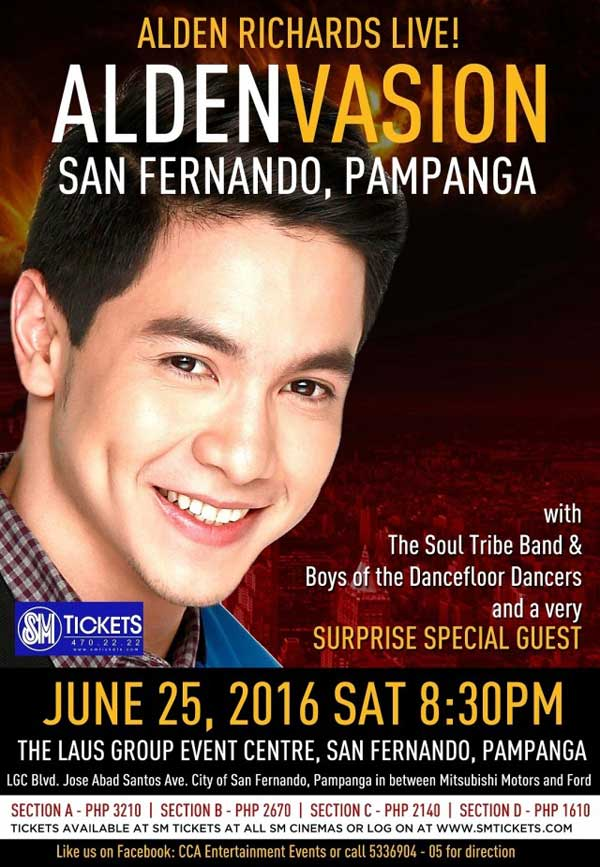 Aldenvasion : Alden Richards Live in Pampanga Postponed