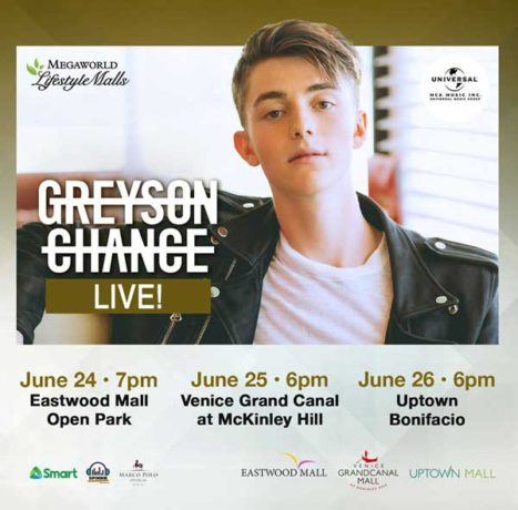 Greyson Chance Live at Megaworld Lifestyle Malls