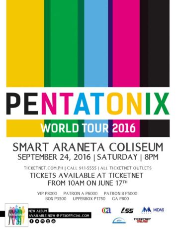 Pentatonix Live in Manila 2016