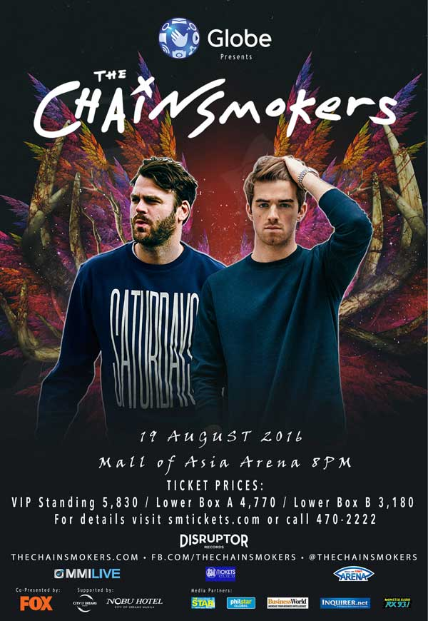 The Chainsmokers Live in Manila 2016