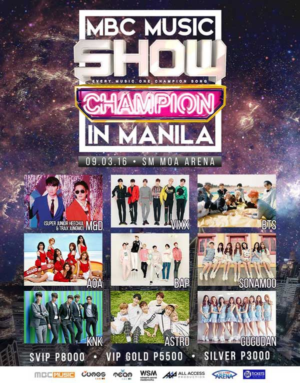 MBC Music Show Champion Live in Manila