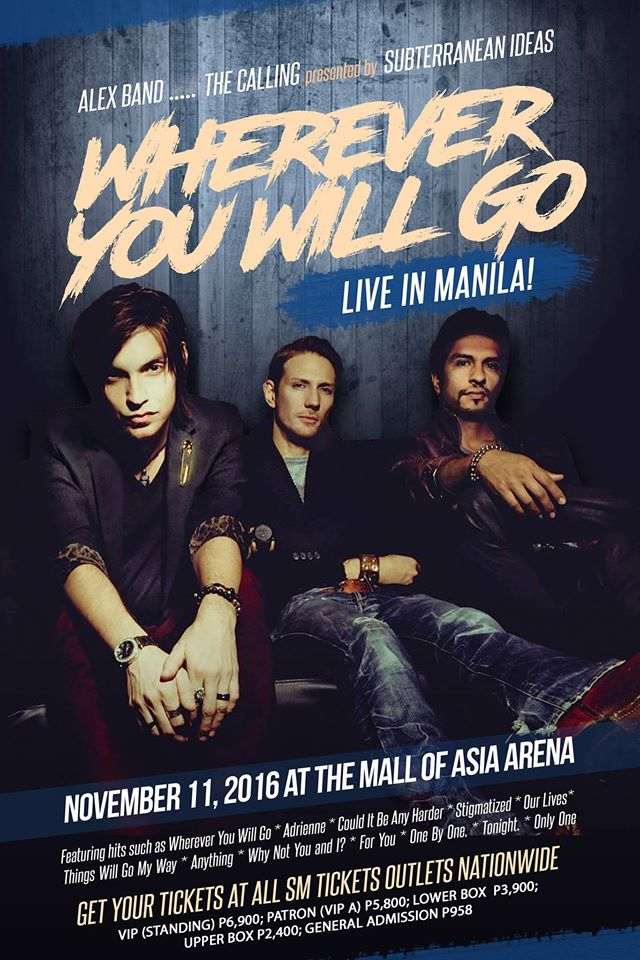 Alex Band, The Calling Live in Manila 2016