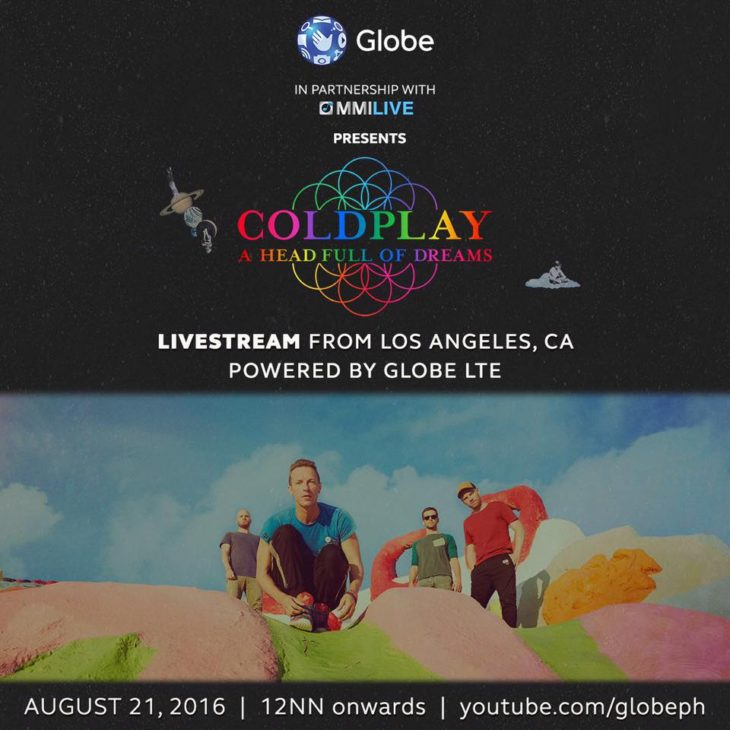 Watch Coldplay Live on August 21, 2016