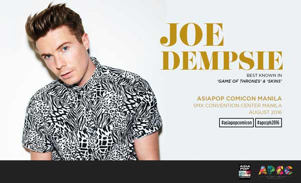 Joe Dempsie of 'Game of Thrones' to visit Philippines for AsiaPOP Comicon Manila 2016