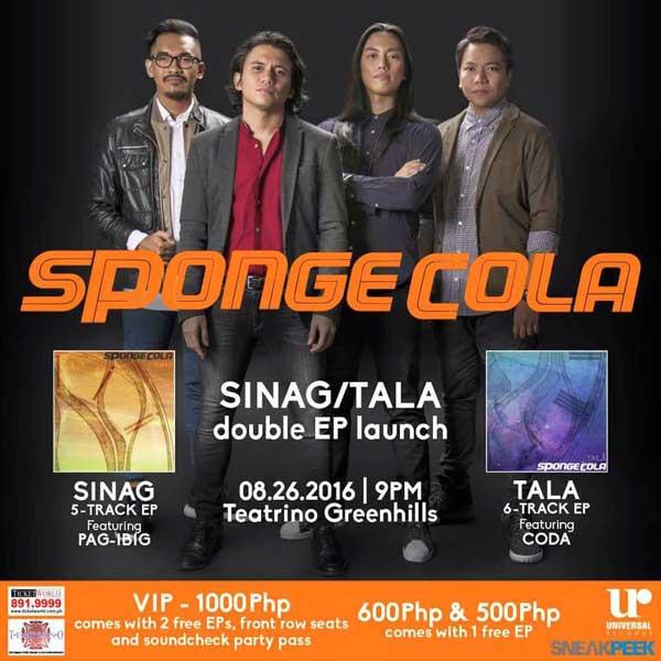 "Spongecola Releases Double EP ""Sinag"" + ""Tala"""