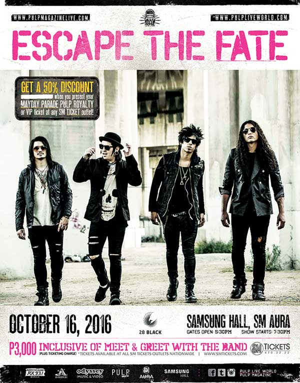 Escape The Fate Live in Manila 2016