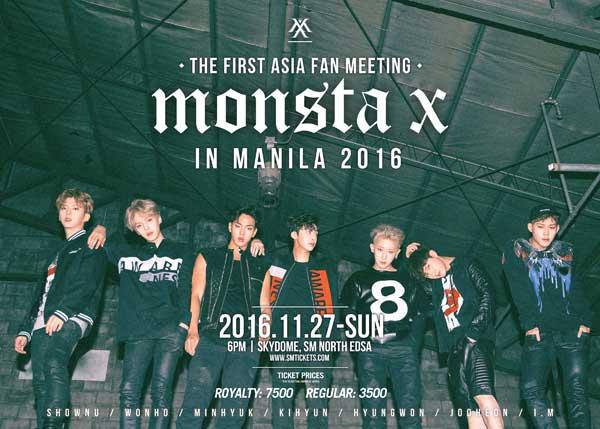 Monsta X in Manila 2016