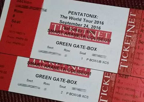 Pentatonix Live in Manila Ticket Promo