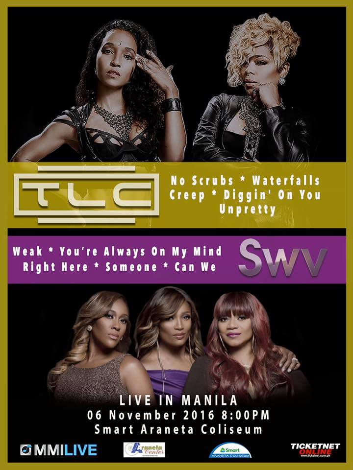 TLC and SWV Live in Manila 2016