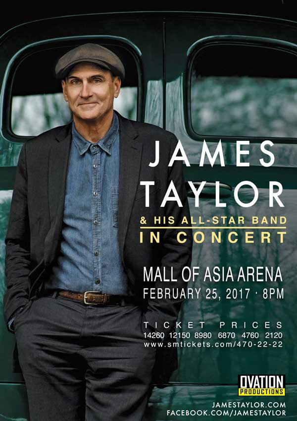 James Taylor with His All-Star Band Live in Manila Cancelled