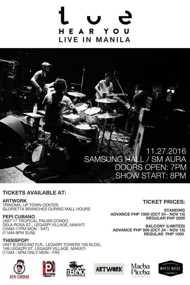 Toe Live in Manila 2016