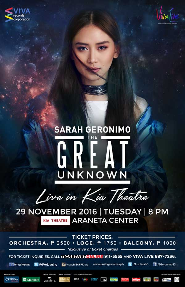 Sarah Geronimo: The Great Unknown Live at Kia Theatre