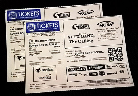 The Calling Live in Manila Ticket Promo