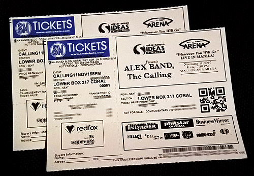 Win Tickets to Watch Alex Band, The Calling Live in Manila