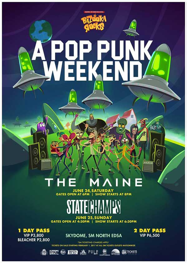 Bazooka Rocks with The Maine and State Champs