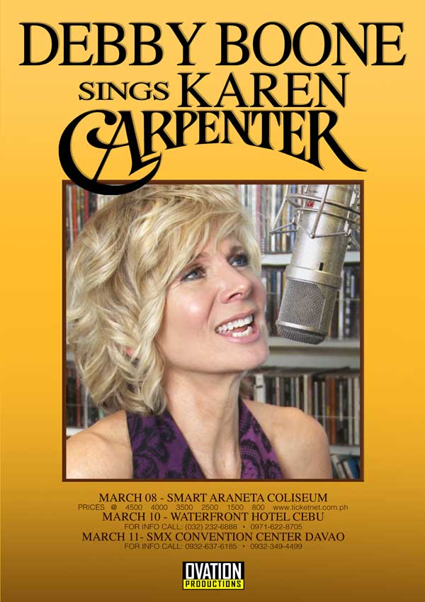 Debby Boone Sings Karen Carpenter Rescheduled