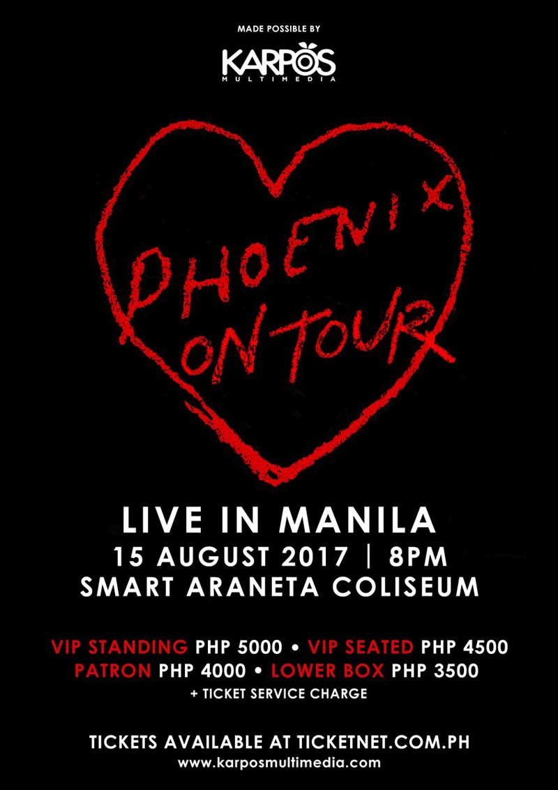 phoenix, indie band, french band, live in manila, concert in philippines