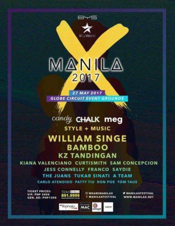 William Singe, Bamboo and KZ Tandingan Headline Manila X 2017