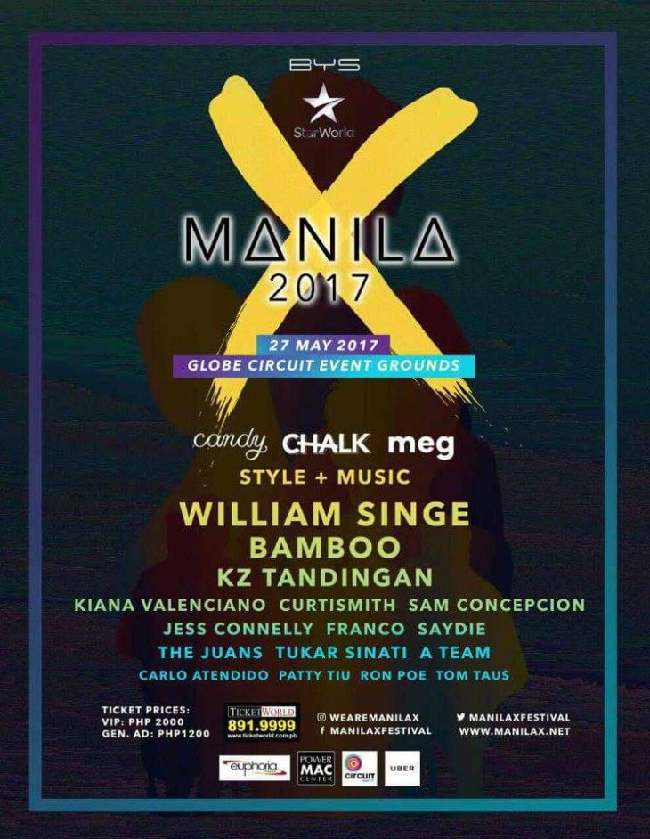 William Singe, Bamboo and KZ Tandingan Headline Manila X 2017