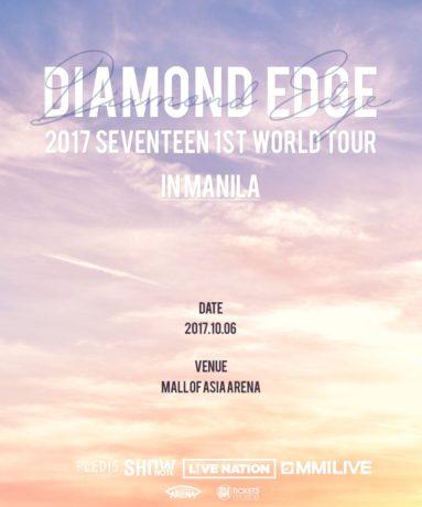 Diamond Edge 2017 Seventeen 1st World Tour in Manila