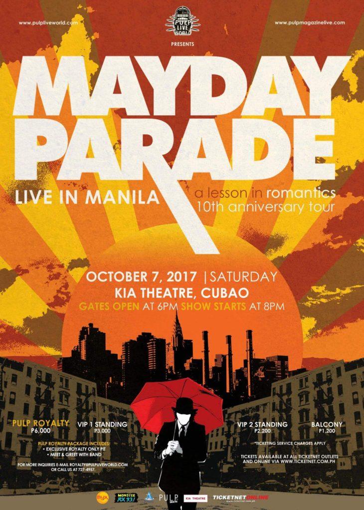 Mayday Parade Live in Manila 2017