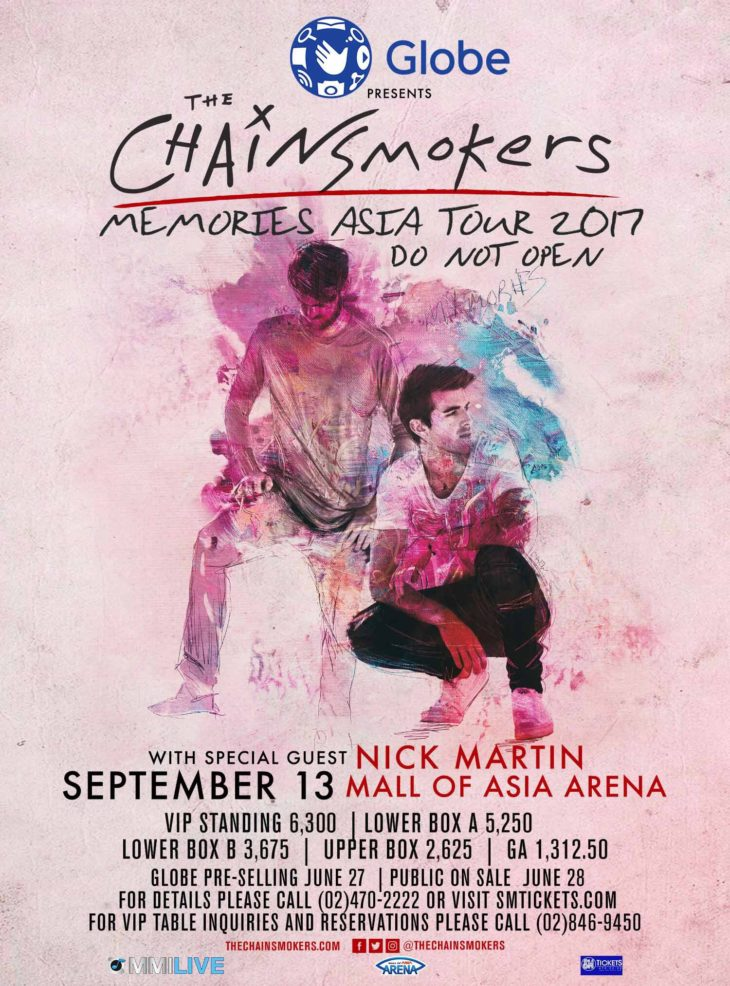Memories Do Not Open Tour: The Chainsmokers in Manila