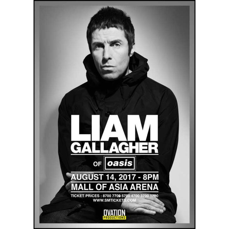 Liam Gallagher of Oasis Live in Manila