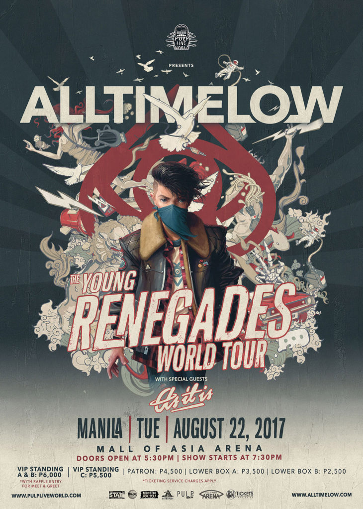 All Time Low to Return to Manila for the Young Renegades World Tour with Special Guests As It Is