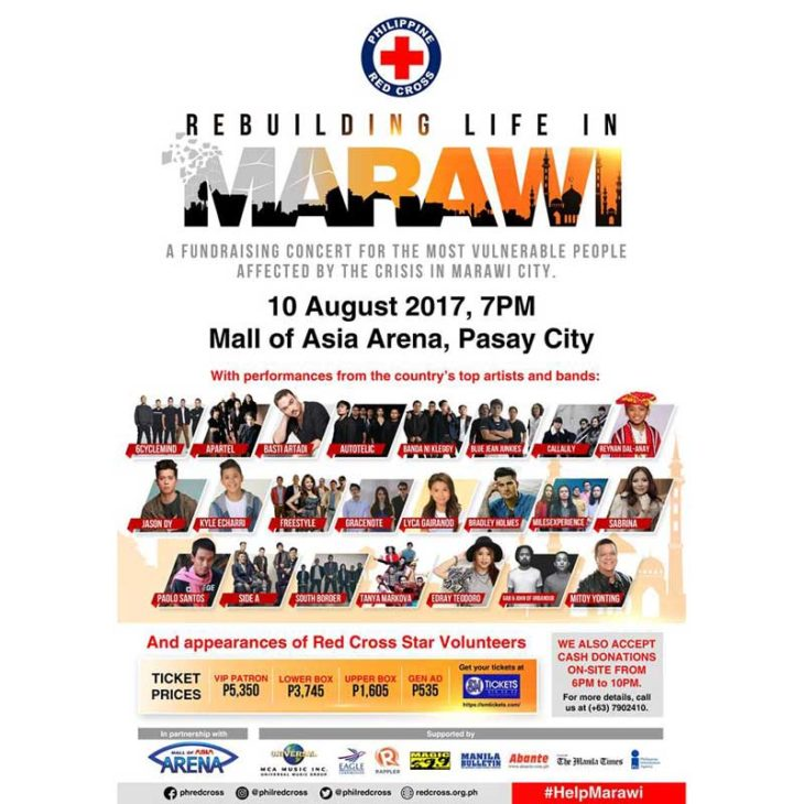 Rebuilding Life in Marawi Fundraising Concert