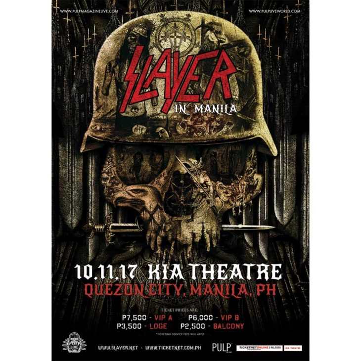 Slayer Live in Manila 2017