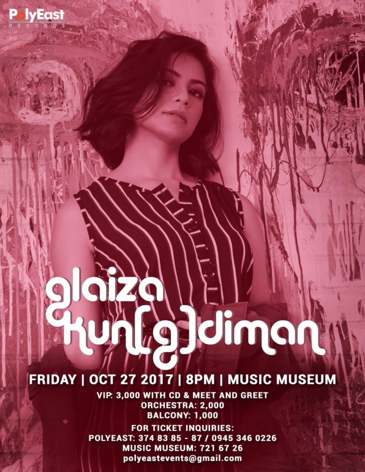 Glaiza de Castro to hold concert at the Music Museum