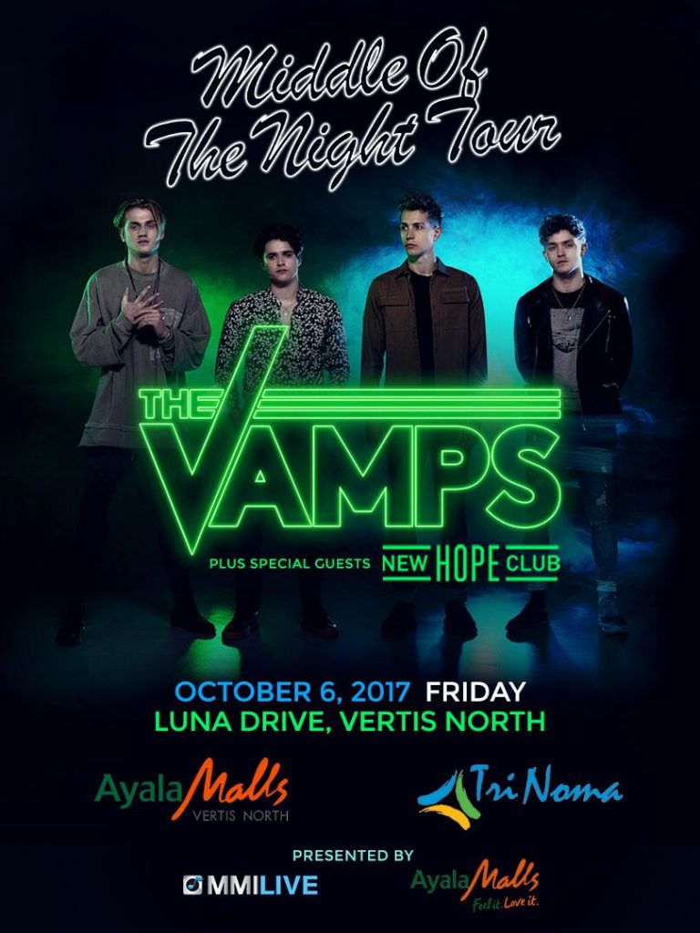 Middle Of The Night Tour The Vamps Live In Manila 2017 Philippine