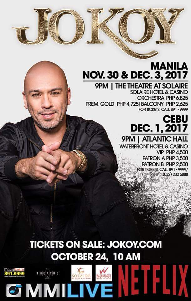 JO KOY live in Manila and Cebu