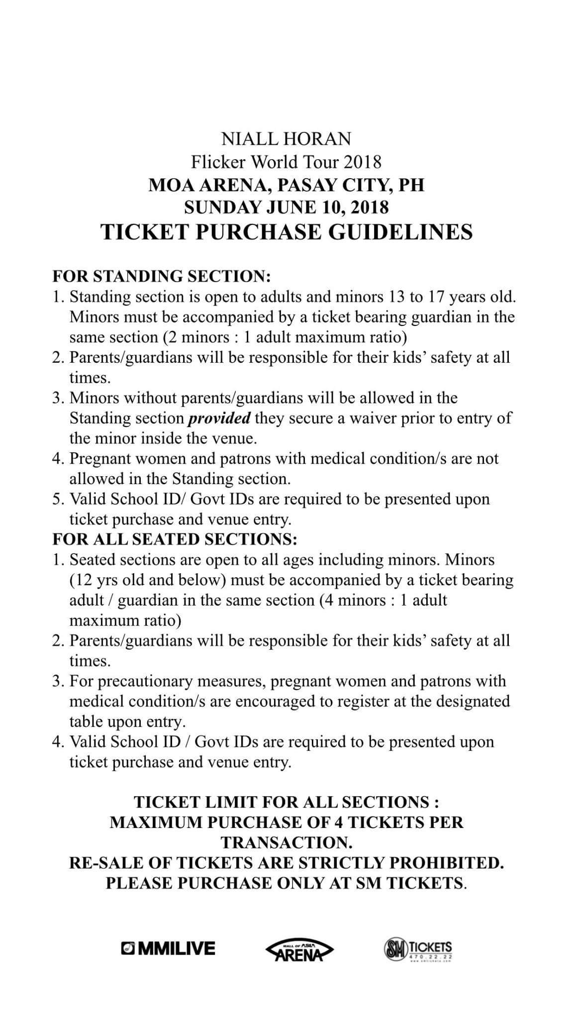 ddd1c9a5bda Tickets available at SM Ticket Outlets or online at smtickets.com. TICKETING  GUIDELINES