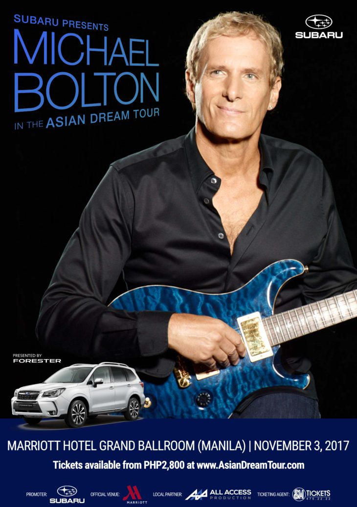 Legendary Singer Michael Bolton Goes the Distance in Asia