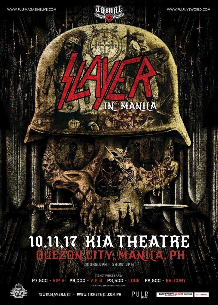 Red Rain Will Fall – Slayer To Make Manila Live Debut at KIA Theatre