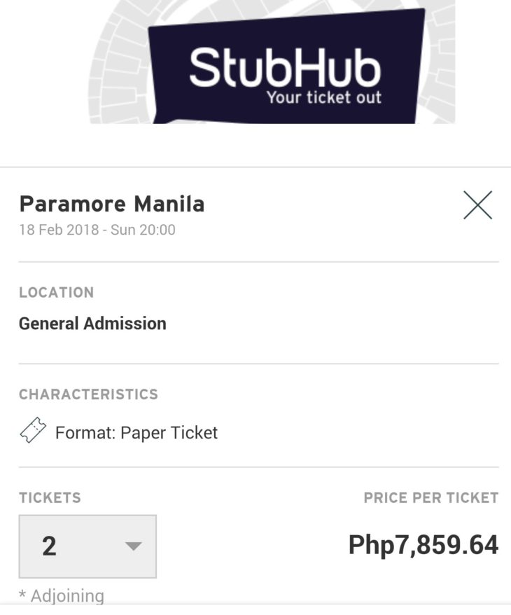 GA Tickets for Paramore Now Being Resold at P7859