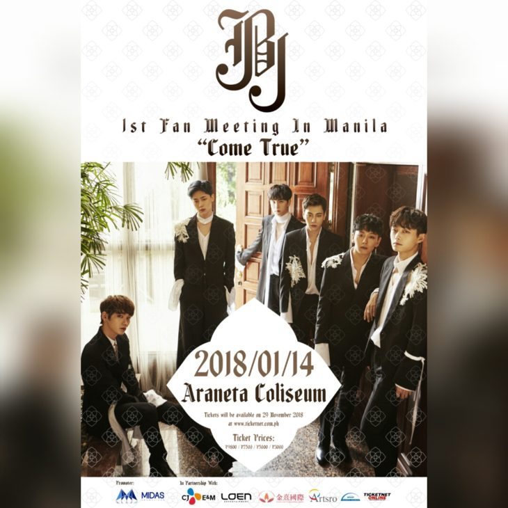 Come True: JBJ 1st Fan  Meeting in Manila