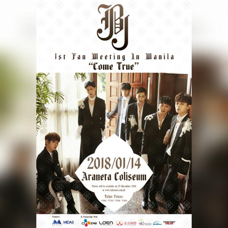 Come True: JBJ 1st Fan  Meeting in Manila