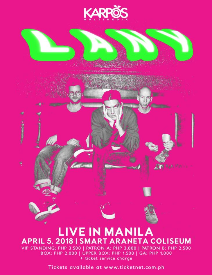 LANY Returning To Manila in 2018