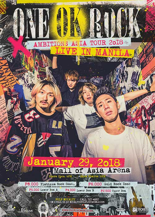 ONE OK ROCK Ambitions Asia Tour 2018 Live in Manila