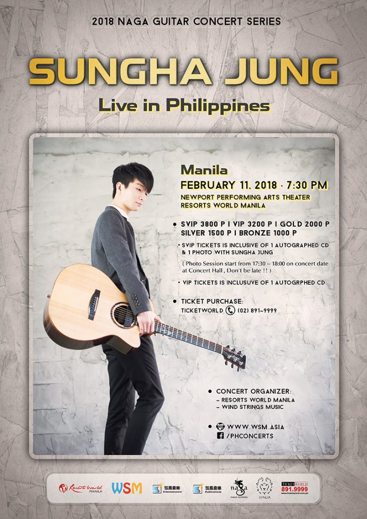 Sungha Jung Live in Manila and Cebu 2018