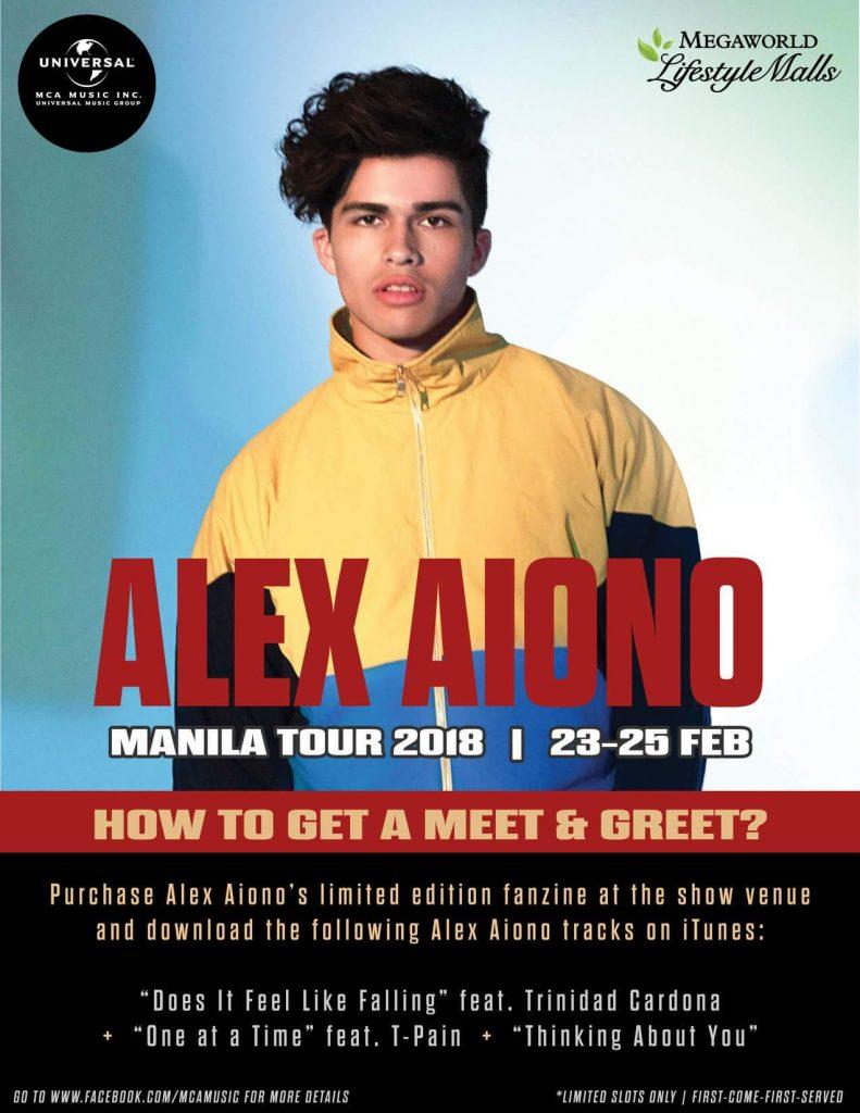 Alex Aiono Manila Tour 2018 Philippine Concerts