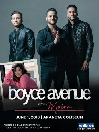 Boyce Avenue Live in Manila 2018 with Moira