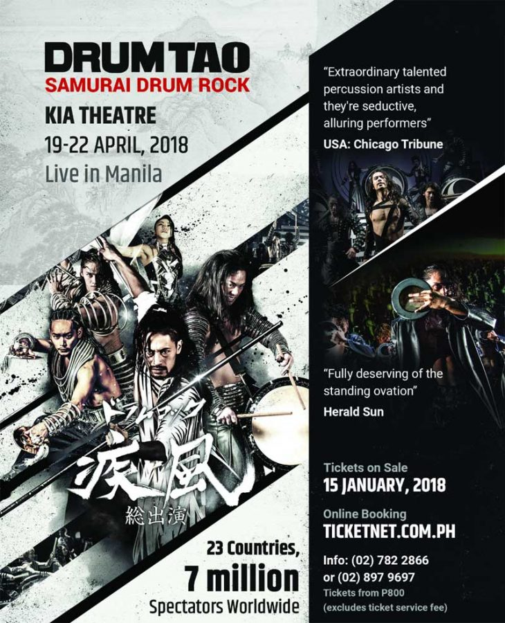 Drum Tao – Samurai Drum Rock Live in Manila 2018
