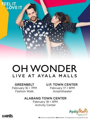 Oh Wonder Live at Ayala Malls
