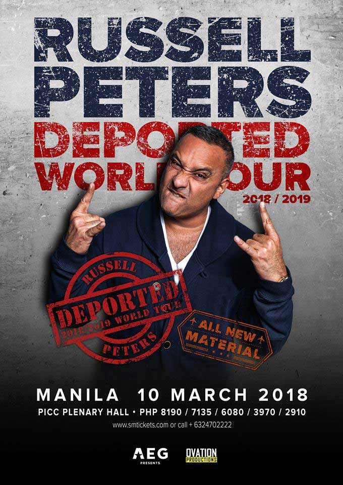 Russell Peters Deported World Tour Manila